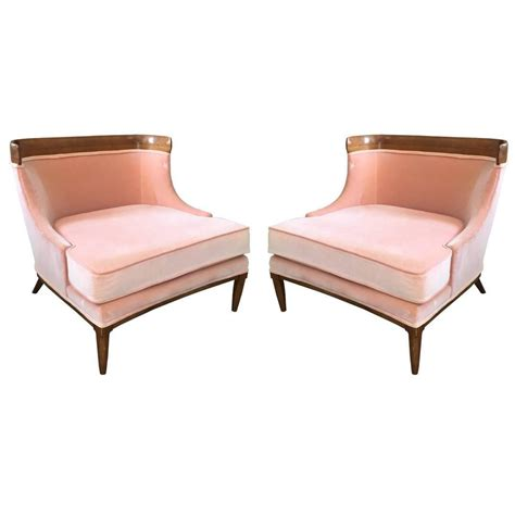 pair of tomlinson slipper chairs by erwin lambeth at 1stdibs