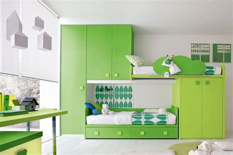 contemporary green bedroom by stemik living digsdigs - Green Childrens Bedroom Ideas