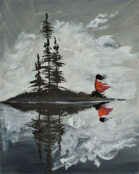 learn to paint acrylic on canvas learn to paint acrylic on canvas an island reflection in