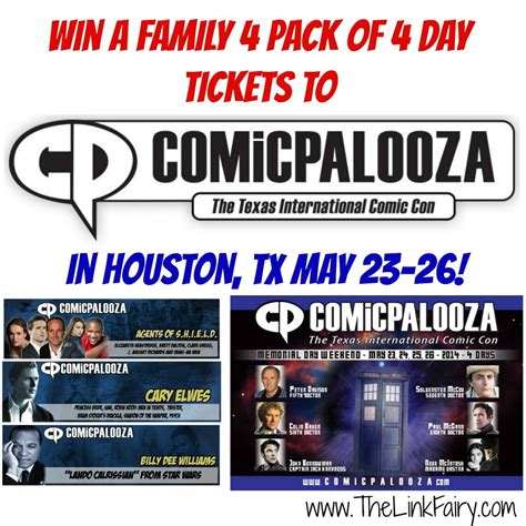 Houston Giveaways - win a 4 pack of tickets to houston s 2014 comicpalooza may 23 26