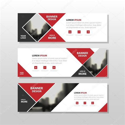layout pra banner red black triangle square abstract corporate business