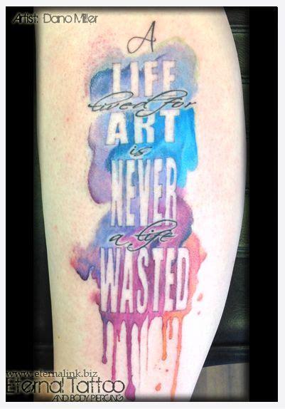 latin lyrics tattoo watercolor tattoo macklemore lyrics artist dano