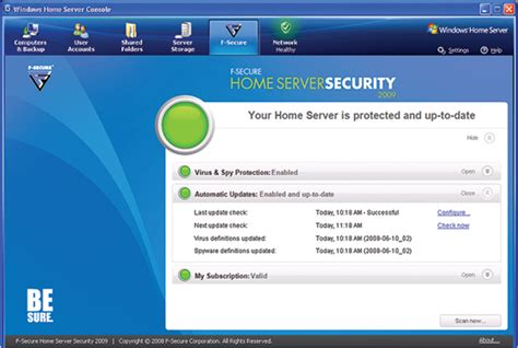 f secure home server security 2009 erschienen