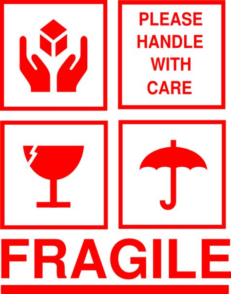 Fragile Zerbrechlich Aufkleber by Fragile Sticker Clip At Clker Vector Clip
