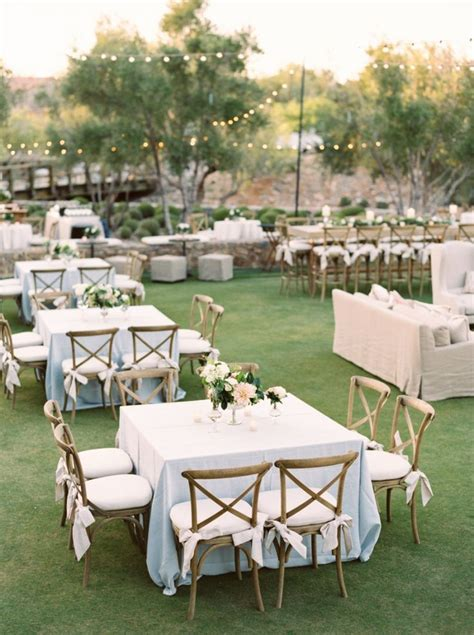 backyard rentals for weddings wedding rentals with square tables powder blue linens