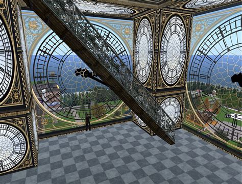 London Clock Tower by Inside Big Ben Clock Tower In Second Life Danie Van Der