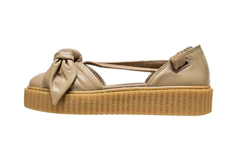 rihanna x fenty bow creeper sandal brown fastsole co uk