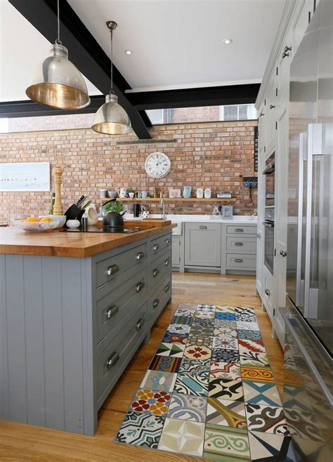 rustic kitchen dusty blue island thebestwoodfurniture