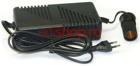 lada led 24v adaptor priza pentru lada frigorifica auto 12v 8a max 96w