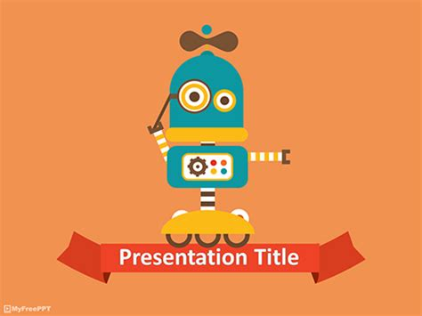 robot powerpoint template free technology powerpoint templates themes ppt