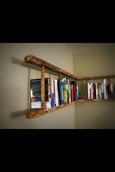 repurposed ladder turned bookshelf flea market flips