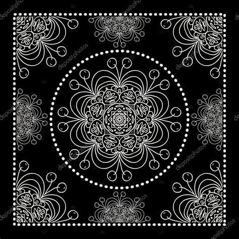 bandana template black bandana print stock vector 169 ilonitta 76322893