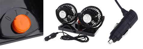 Huxin Kipas Mobil 360 Degree Mini Electric Car Fan mitchell 2 gears 360 degree rotatin end 3 24 2020 12 36 pm
