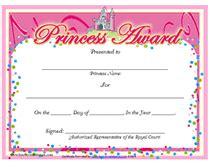 princess certificate template free printable princess award certificates templates