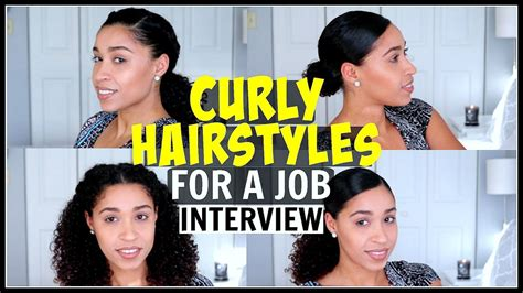appropriate haircuts for interviews curly hairstyles for a job interview natural hair youtube