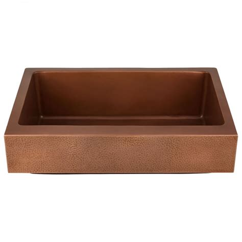 hammered copper farmhouse sink 30 quot vernon hammered copper retrofit farmhouse sink kitchen