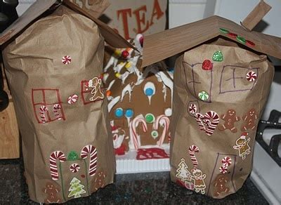 Paper Bag Gingerbread House Craft - 1000 images about preschool programs on moon