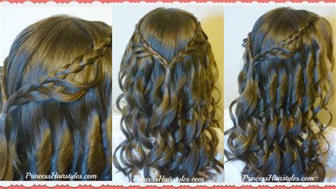 easy hairstyles for middle school graduation 8th grade dance hairstyle tutorial and dress princess