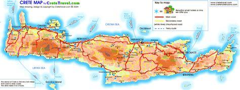 crete map crete hotel map crete mappery