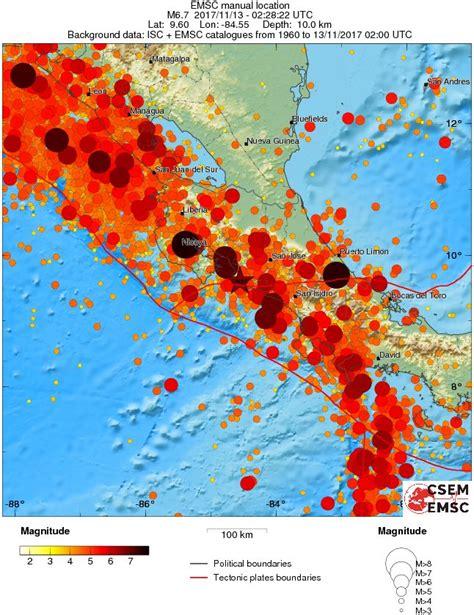 Earthquake November 2017 | strong and shallow m6 5 earthquake hits costa rica
