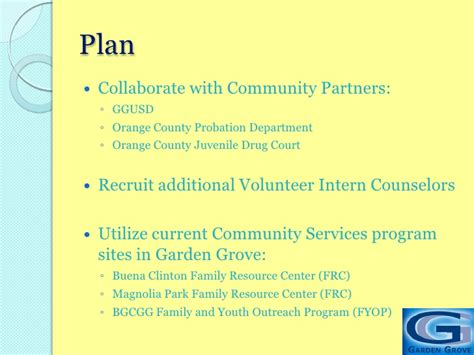 Garden Grove Youth Programs Youth And Recovery Program