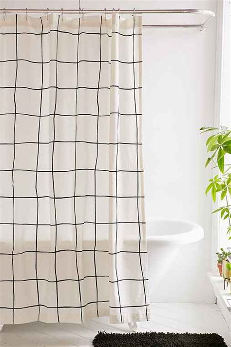 Grid Shower by Wonky Grid Shower Curtain Outfitters