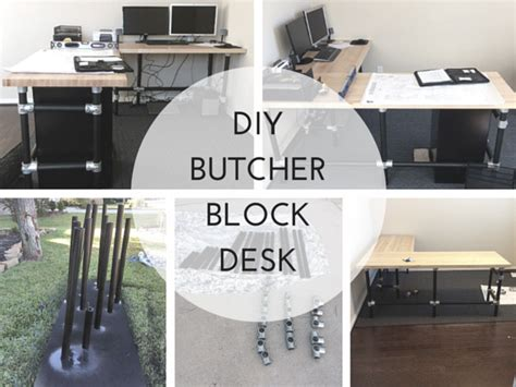 diy butcher block desk diy butcher block desk