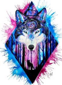 galaxy wolf by scandycurll on deviantart