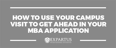 Fit Mba Application by Mba Cus Visit How To Use Your Cus Visit To Get Ahead