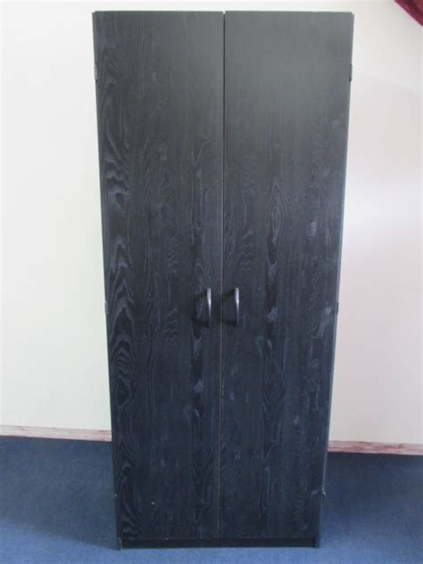 Large Wardrobe With Shelves by Lot Detail Large Two Door Storage Cupboard Wardrobe With
