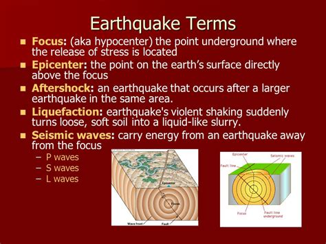earthquake glossary earth science chapter 5 earthquakes ppt video online