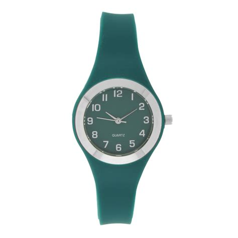 green rubber jewelry watches