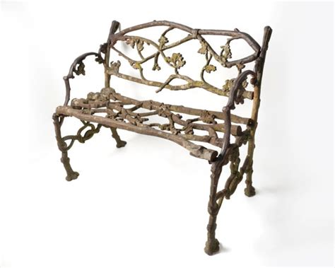 small iron bench rare c1850 english cast iron small bench nikki page antiques