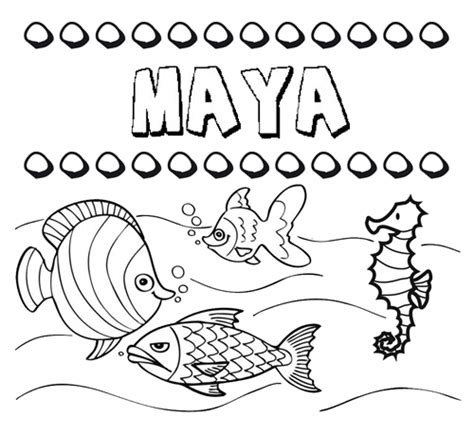 imagenes mayas para pintar dibujos de los nombres nombre maya para pintar colorear