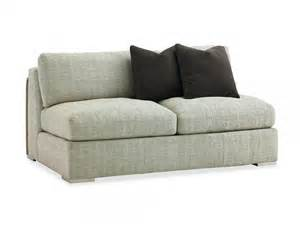 Armless fabric loveseat slipcover with gray color and blcak cushion for small living room spaces