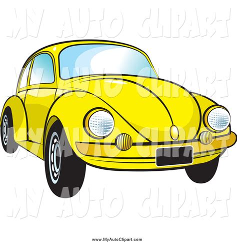 volkswagen bug clip art clip art of a yellow vw bug car by lal perera 868