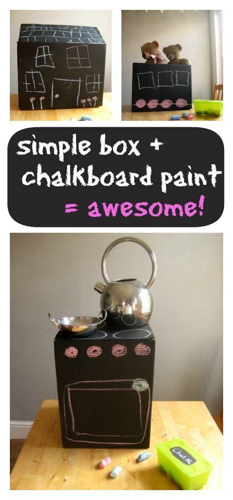 chalkboard paint on cardboard 237 best glorious junk images on children