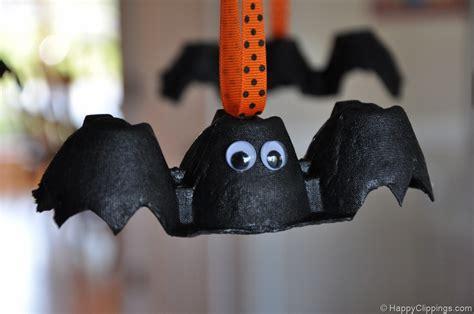 bat crafts diy egg bats and leaf ghosts craft