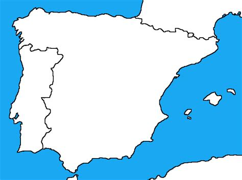 map of iberian peninsula blank map of spain and portugal ciij