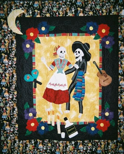 quilt pattern of the day 1000 images about dia de los muertos quilts on pinterest