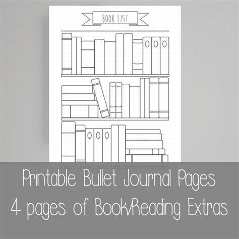 extra templates for pages extra bullet journal pages book reading a5 by scatteredpapers1