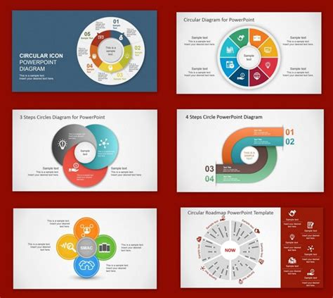 best circular diagrams templates for presentations