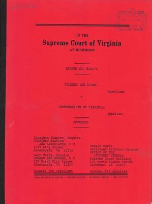 Arlington Va Court Records Virginia Supreme Court Records Volume 228 Virginia Supreme Court Records