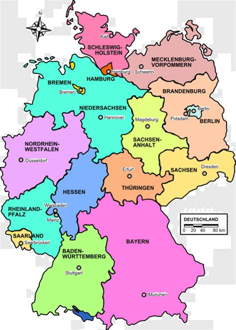 germany state map germany map map pictures