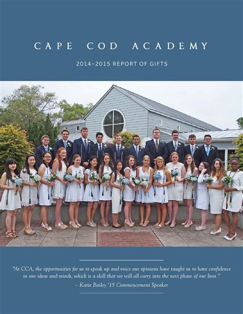 cape cod academy cape cod academy 2014 2015 report of gifts by cape cod