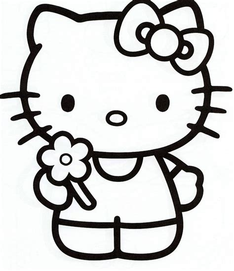 hello kitty coloring pages for kids to print out only