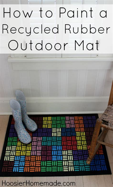 how to clean a rubber st how to paint a recycled rubber outdoor mat hoosier