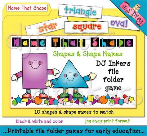 file folder games for teaching shapes printable file folder game to teach shapes by dj inkers