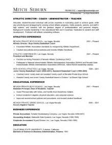 Sample Resume Objectives For Athletic Director by Athletic Director Resume