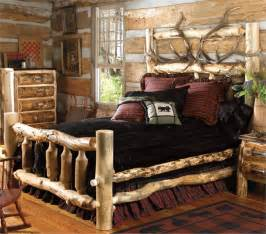 Queen Spindle Bed Rustic Cedar And Aspen Log Beds Reclaimed Furniture